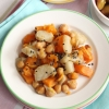 Roasted Jerusalem artichoke with Sweet Potato, Onions and Zaatar