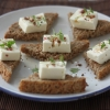 Bread Chunks with Fresh Cheese and Argan Oil