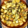 Oven Roasted Potatoes with Leek and Fresh Thyme