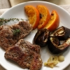 Lamb Chops with Orange Sauce, Thyme and Garlic