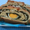 Bread Roll with Nettle and Boiled Eggs
