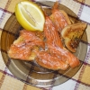 Fresh Salted Salmon with Ouzo and Orange Juice