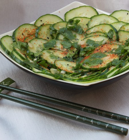 Cucumber Salad with Coriander