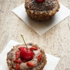 Raw Walnut Tartelettes with Banana Cashew Cream