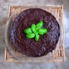 Basil Flavored Triple Chocolate Raw Cake